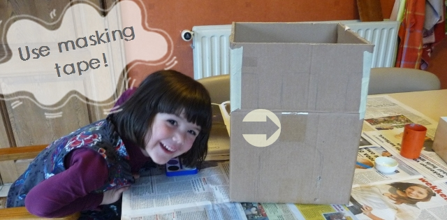 Crafts with Cardboard - How to Make a Castle out of Cardboard-masking tape