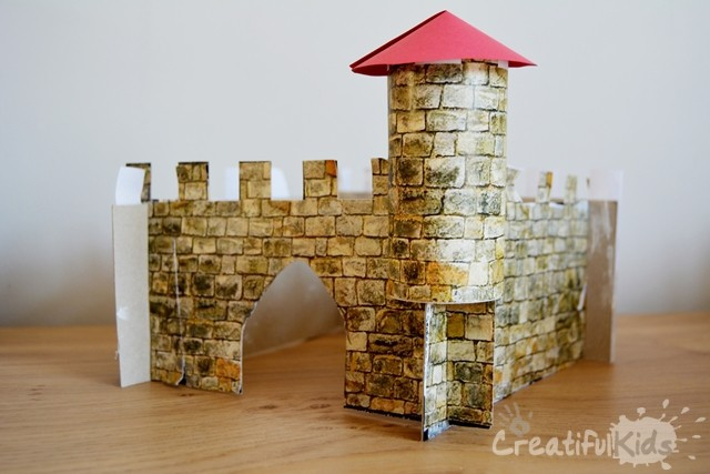 Easy crafts with kids- castle from cardboard