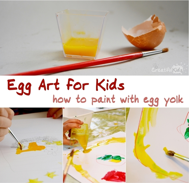 if youre looking for new art ideas then try this egg art for kids and paint with egg yolk - Pictures For Kids To Paint
