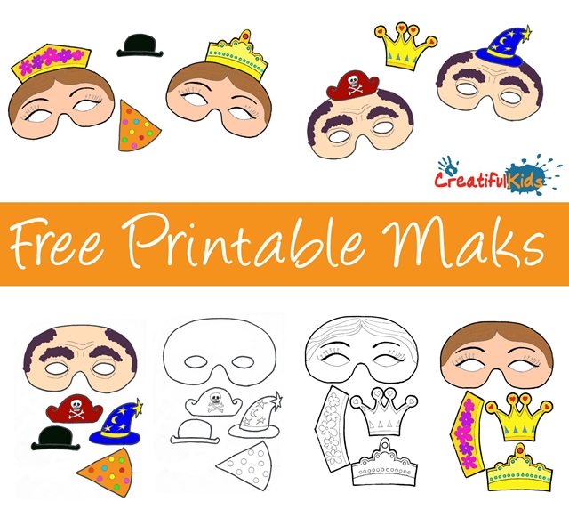 free printable masks templates for kids creatifulkidscreatifulkids