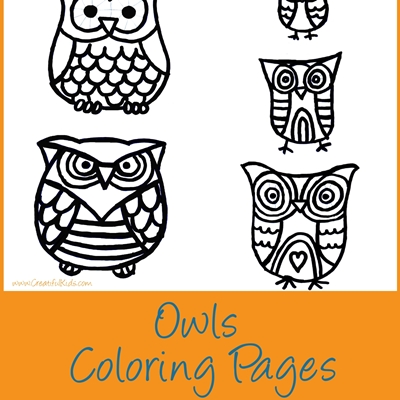 Free Owl Coloring Pages for Kids - CreatifulKidsCreatifulKids