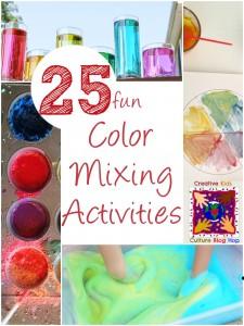 25 color mixing activities